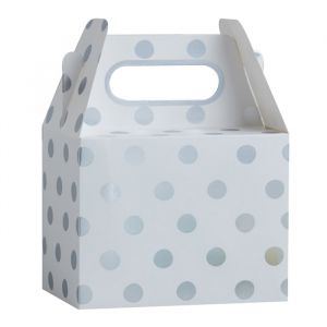 Bedankdoosjes dots Wit - Zilver Pick & Mix (5st) Ginger Ray