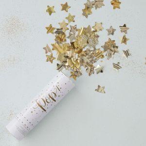Confettikanon Stars Goud Ginger Ray
