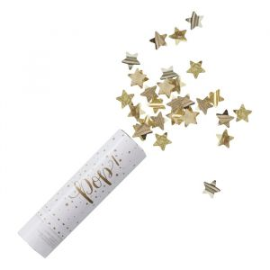 Confettikanon Stars Gold Metallic Star