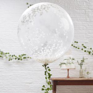 Mega confetti ballon wit (3st) Beautiful botanics Ginger Ray
