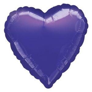Folieballon hart paars (43cm)