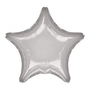 Folieballon ster zilver (48cm)