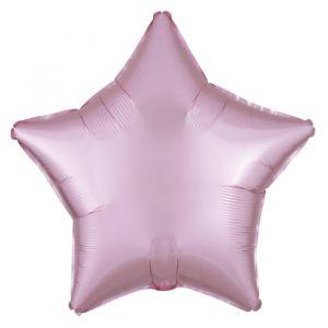 Folieballon Satin Luxe ster pastel roze (43cm)