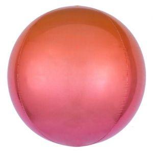 Folieballon Ombré Rood & Oranje 40cm