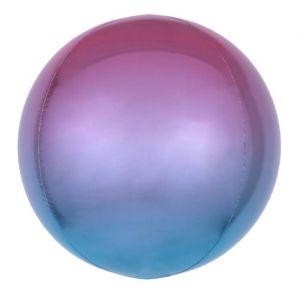 Folieballon Ombré Paars & Blauw 40cm