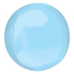 Orbz folieballon pastel blauw (40cm)