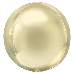 Orbz folieballon pastel geel (40cm)