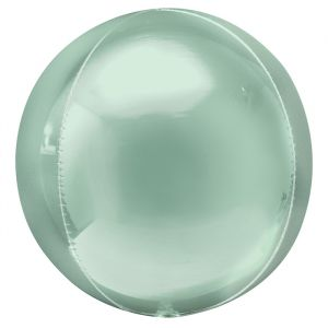 Orbz folieballon pastel mint (40cm)
