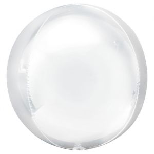 Orbz folieballon pastel wit (40cm)