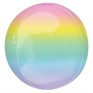 Orbz folieballon ombre pastel (40cm)