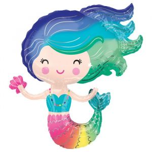 Folieballon Colorful Mermaid (76cm) product