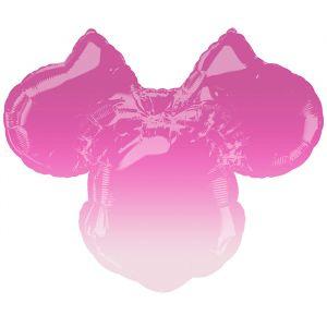 Folieballon Minnie Mouse ombre (68cm)
