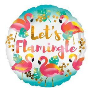 Folieballon Let's Flamingle (43cm)