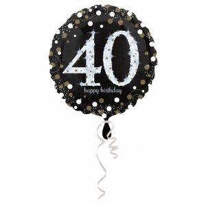 Folieballon 40 jaar Sparkle (43cm)