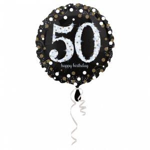 Folieballon 50 jaar Sparkle (43cm)