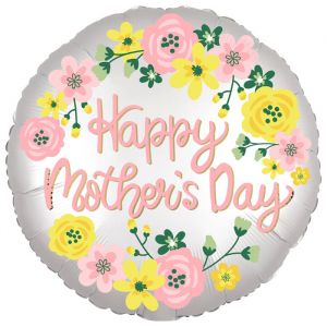 Folieballon Happy Mother's Day Floral (40cm)