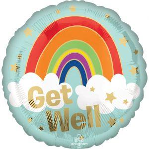 Folieballon Get Well Rainbow (40cm)