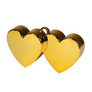 Ballongewicht dubbel hart goud (150 gram)