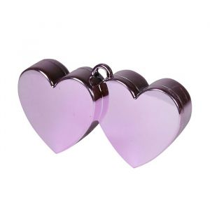 Ballongewicht dubbel hart roze (150 gram)