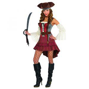 Piratenkostuum Caribbean Castaway dames