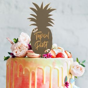 Taarttopper ananas tropical party