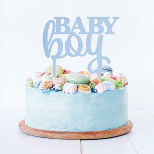 Taarttopper baby boy acryl blauw
