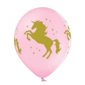 Ballonnen Unicorn roze-wit mix (6st)