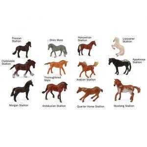 Speelset paarden (12st) Collecta