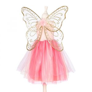 Jurk met vleugels Ella-Nora roze 3-4jr (98-104cm) Souza
