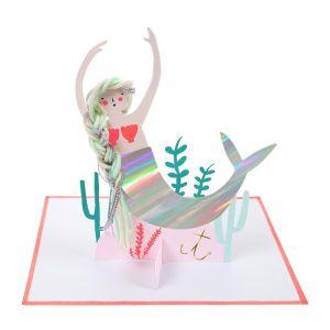 Wenskaart Mermaid Meri Meri