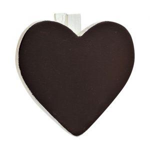 Krijtbordjes op knijper hart (6st)