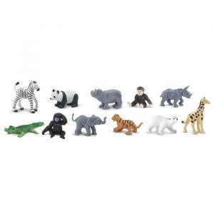 Speelset dierentuin babies (12st) Safari Ltd.