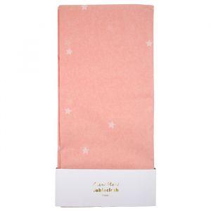 Tafelkleed roze met sterren Meri Meri