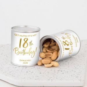 Pindablikje verjaardag birthday goud 18