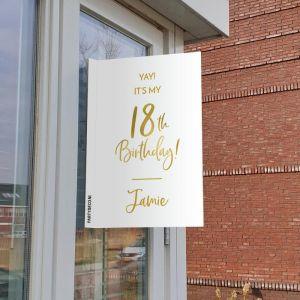 Raambord verjaardag birthday goud 18