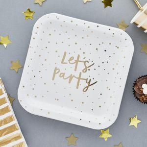 Bordjes Let's Party Goud (10st) Hootyballoo