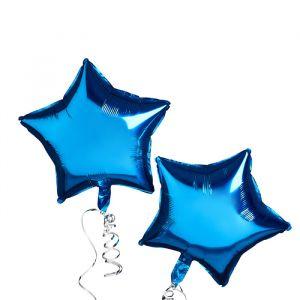 Folie ballonen Ster Blauw (2st) Hootyballoo