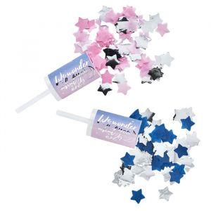 Confetti Push Pop Blauw & Roze (2st) Hootyballoo