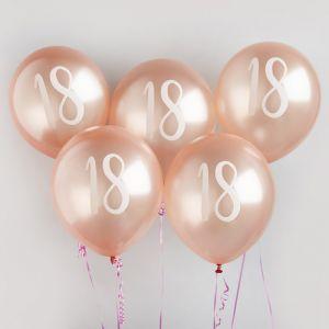 Ballon Roségoud 18 (5st) Hootyballoo