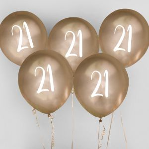 Ballon Goud 21 (5st) Hootyballoo