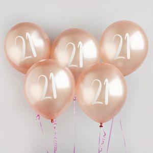 Ballon Roségoud 21 (5st) Hootyballoo