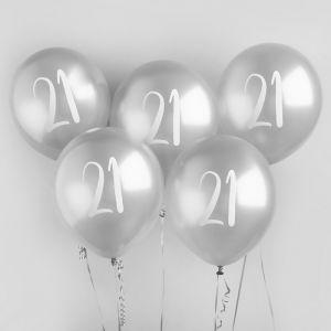 Ballon Zilver 21 (5st) Hootyballoo