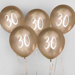 Ballon Goud 30 (5st) Hootyballoo