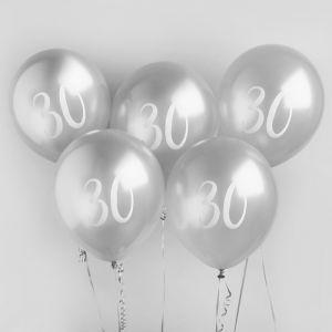 Ballon Zilver 30 (5st) Hootyballoo