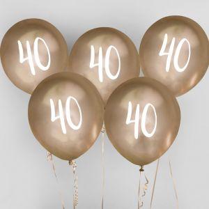 Ballon Goud 40 (5st) Hootyballoo