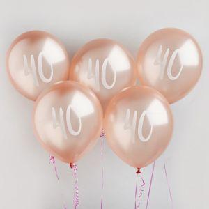 Ballon Roségoud 40 (5st) Hootyballoo