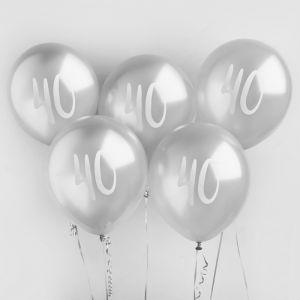 Ballon Zilver 40 (5st) Hootyballoo