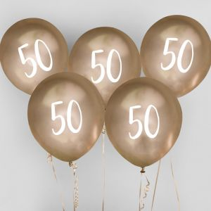 Ballon Goud 50 (5st) Hootyballoo