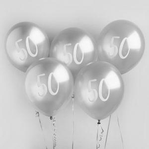 Ballon Zilver 50 (5st) Hootyballoo