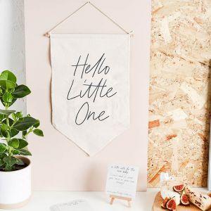 Canvas banner & invulkaartjes Hello Little One (20st)